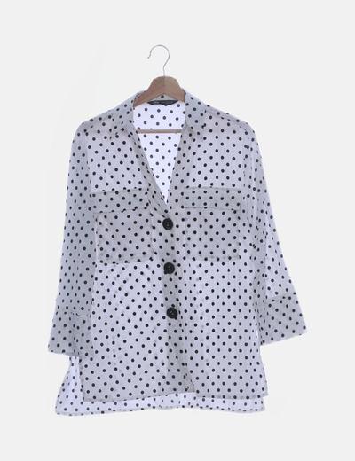 Camisa de topos bicolor