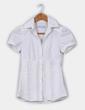Camisa entallada blanca de manga corta Zara