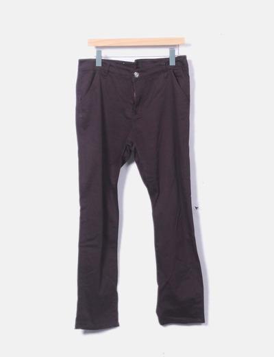 Pantalón recto marrón oscuro