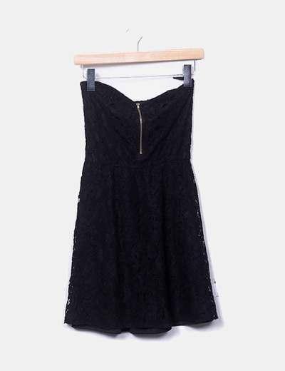 Vestido negro encaje Pimkie