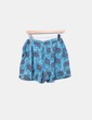 Shorts bleus imprimé Amichi