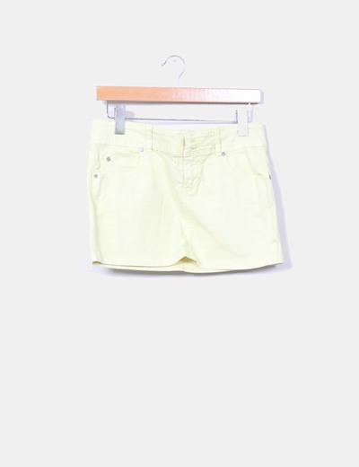 Falda mini amarilla Bershka