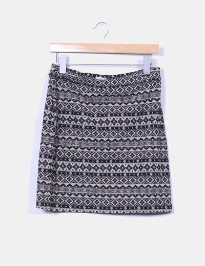 Falda estampada Trucco