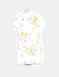 Vestido camisero blanco print floral XDYE