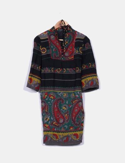 Vestido indi multicolor
