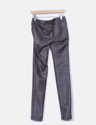 Pantalon polipiel marron