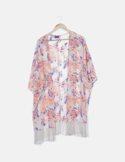 Kimono beige print floral