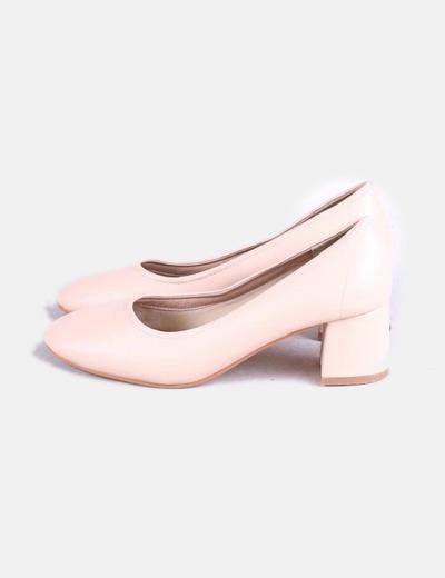 Zapatos kitten heels rosa palo