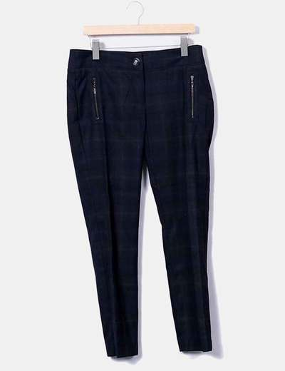Pantalon à carreaux chinois Mango
