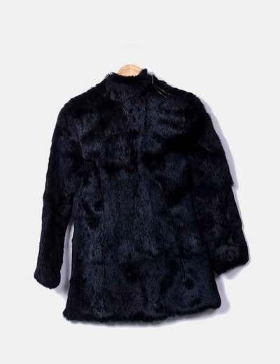 venta minorista e1979 05d2f Abrigo conejo negro