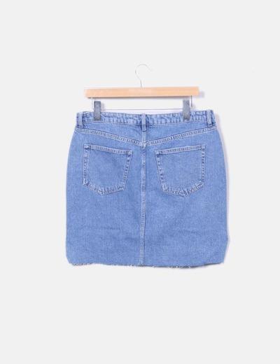 Minifalda denim azul