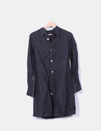 Vestido camisero negro NoName