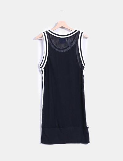 Vestido deportivo rejilla negro