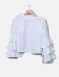 Blusa blanca mangas con volantes NoName