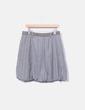 Falda combinada gris Desigual