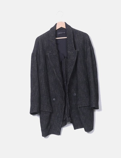 Thick black lavender jacket Zara