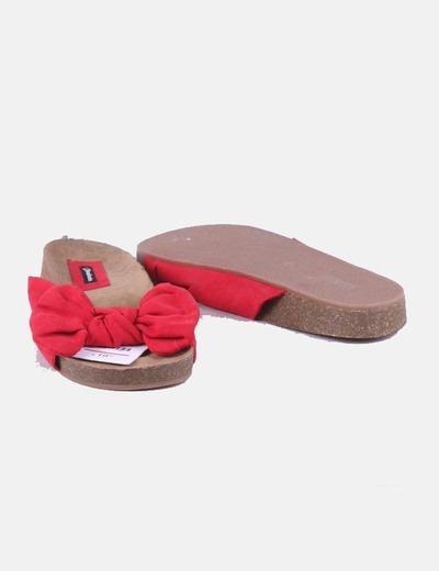 Sandalia lazo roja 19,99 EUR | Stradivarius | Fashion