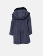 Abrigo largo gris con capucha Zara