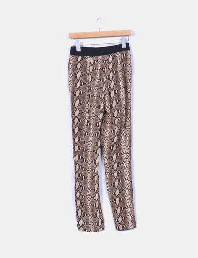Pantalon baggy animal print pitillo