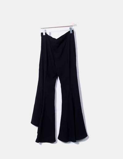 pantalon negro campana zara