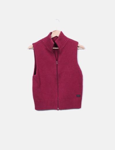 En maille vest rose Pepe Jeans