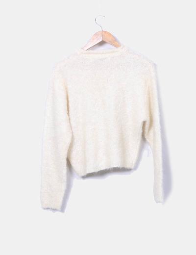 Jersey beige de lana