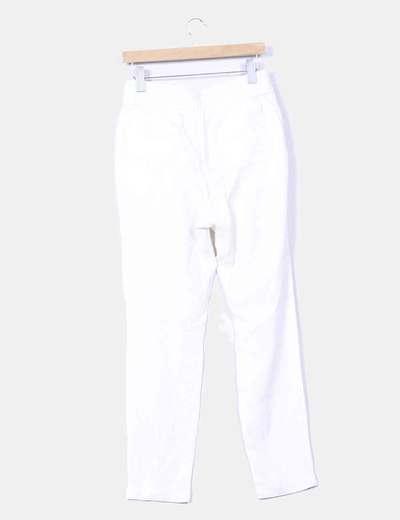 Pantalon baggy blanco roto