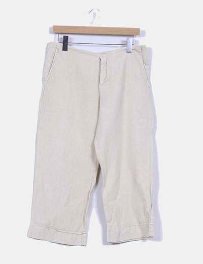 Pantalon recto tobillero lino NoName