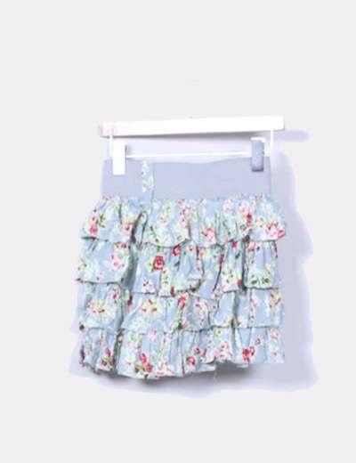 Falda volantes estampado floral