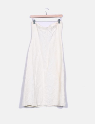 Vestido crudo con bordados