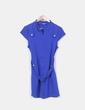 Vestido azul klein de manga corta Kuca