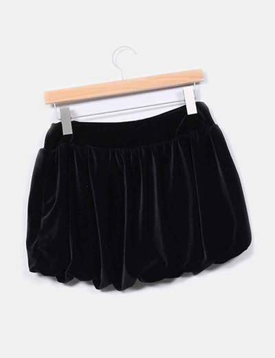 c81f870b0f943 Stradivarius Mini falda negra terciopelo (descuento 89%) - Micolet