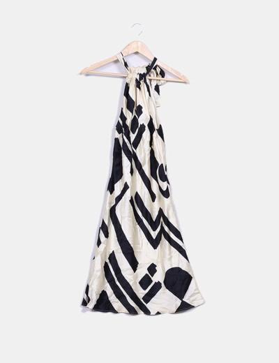 Vestido blanco y negro roberto verino