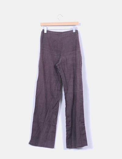 Pantalon marron fluido