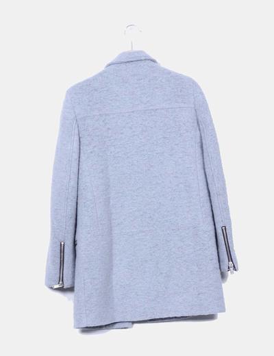 Abrigo lana gris stradivarius