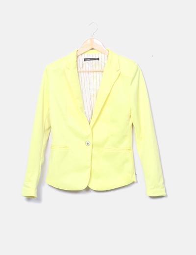 Blazer jaune avec le bouton FXJC Woman