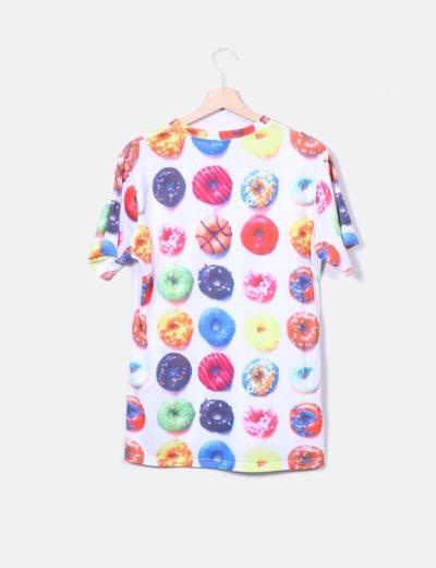 Camiseta estampado donuts