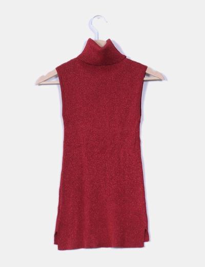 Jersey rojo de canale con brillos cuello