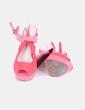 Sandalia de antelina coral NoName