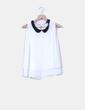 Blusa blanca cuello bebé Bershka
