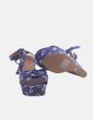 Sandalia cuña azul floral Springfield