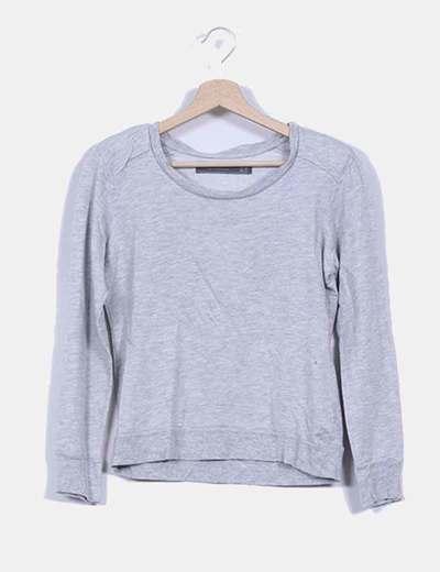 Jersey gris con hombreras Zara