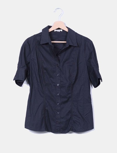 Camisa negra manga corta Sfera