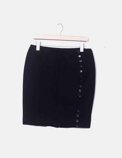 Falda negra con botones laterales Liu·Jo