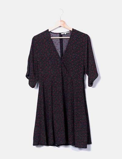 Robe noire étoiles midi Easy Wear