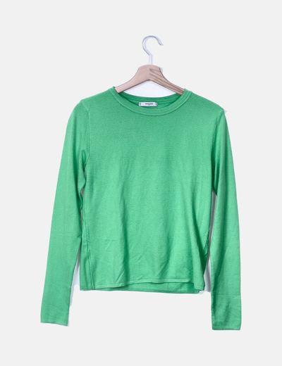 Camiseta tricot verde