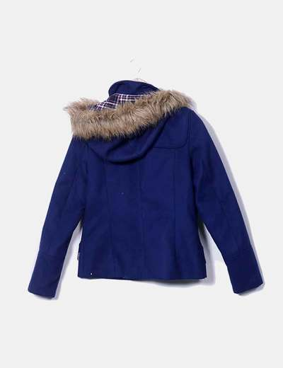 Chaqueton azul con capucha