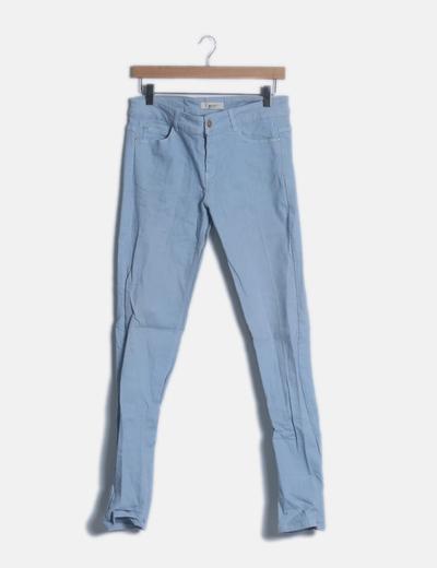 Pantalón denim azul claro