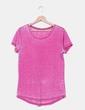 T-shirt rose avec motif les épaules Esprit