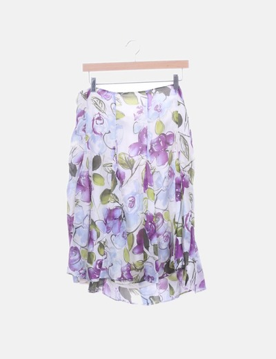 Falda de gasa print floral